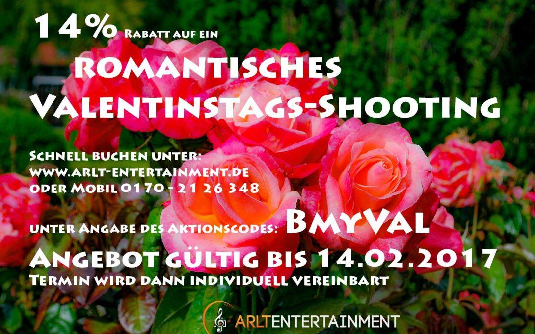 Rabattaktion zum Vaeltinstag für ein romatisches Fotoshooting